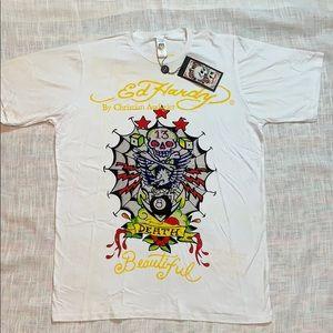 NEW ED HARDY XXL Platinum Beautiful Death T-Shirt